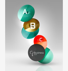 circle modern business infographics design vector image