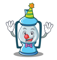 Clown lantern character cartoon style vector