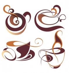 coffeetea elements for design vector image vector image