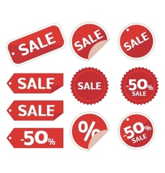 Collection of sale discount origami vector