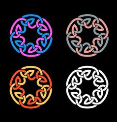 color a celtic knot vector image