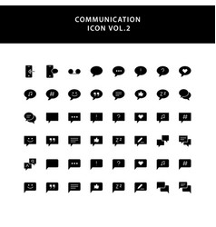 communication glyph style icon set vector image
