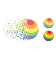 dissolving pixel halftone lgbt color stripes vector image