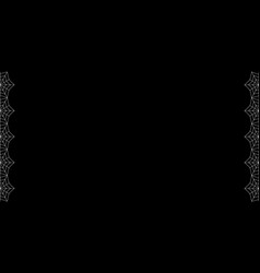 double left and right white spiderweb border with vector image