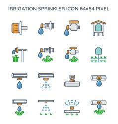 drip irrigation icon vector image