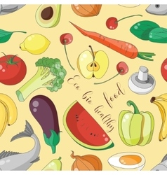 Eco bio healthy food pattern vector