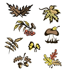 Fall images for decoration vector