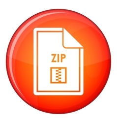 File ZIP icon flat style vector