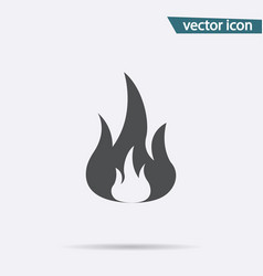 fire icon flat flame symbol isolated on wh vector image