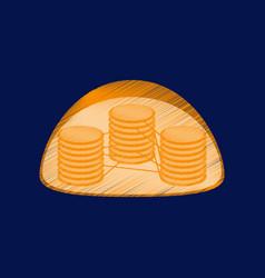 flat shading style icon chloroplast vector image
