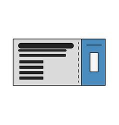 flight ticket passboard vector image