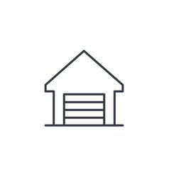 garage thin line icon linear symbol vector image