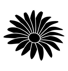 Gerber flower icon simple black style vector