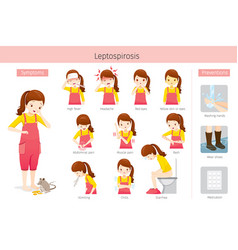 girl with leptospirosis symptoms and preventions vector image