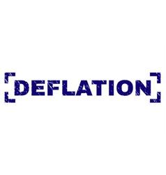 Grunge textured deflation stamp seal between vector