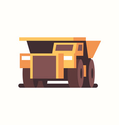 heavy yellow dumper truck industrial machine coal vector image