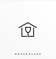 house glass template vector image