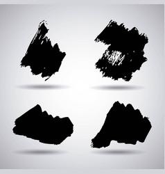 ink brush stroke different grunge art texture vector image