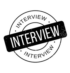 Interview rubber stamp vector