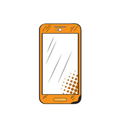 isolated retro smartphone icon vector image