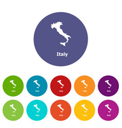 italy map icon simple style vector image