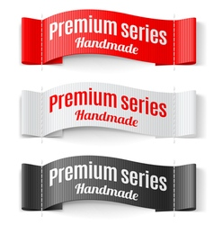 Labels Premium series vector image