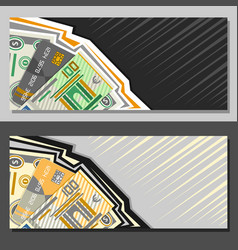 layouts for currency exchange vector image