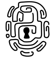 Lock attachment lines design vector