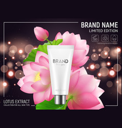 lotus cosmetics realistic poster vector image