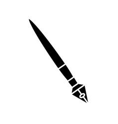 luxury feather icon vector image