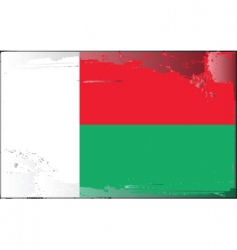 Madagascar national flag vector image