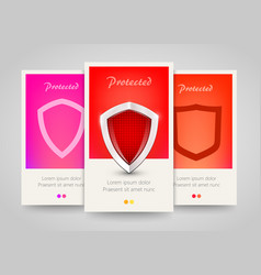 Modern colorful vertical protection motive banners vector
