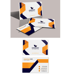 Modern corporate business card template premium ve vector