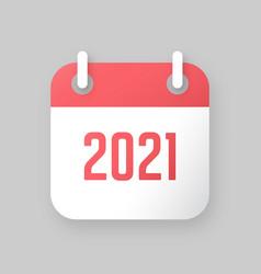 new year 2021 calendar icon vector image