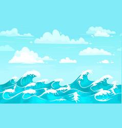 ocean waves backdrop sea water storm wave vector image