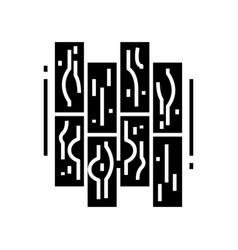 parquet black icon concept vector image