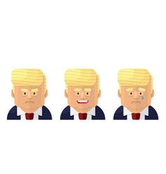 President flat graphic emoji icon set vector