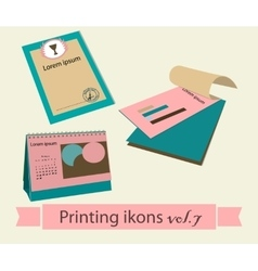 Print icons set7 vector image