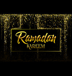 ramadan kareem greeting card arabic template vector image