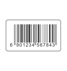 Realistic bar code icon isolated on background mo vector