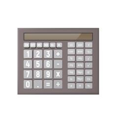 Realistic scientific calculator vector