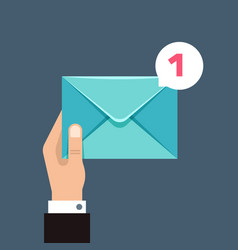 Receiving message concept with envelope in vector