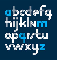 rounded lower case alphabet letters collection vector image