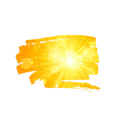 scattered brush stroke with sun background vector image