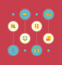 set wd icons flat style symbols vector image