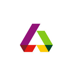 shape colorful construction logo vector image