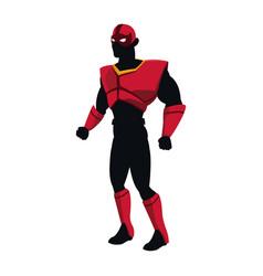 Silhouette of a superhero posing vector