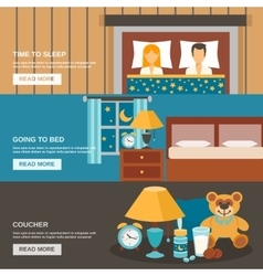 Sleep Time Banner Set vector