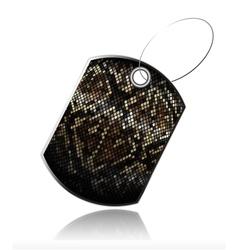 snake skin tag vector image vector image