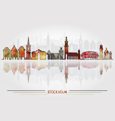 Stockholm city background vector